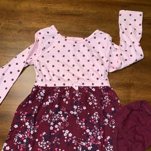 Perfect Little Dress with Polka Dots & Flowers